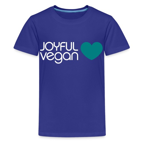 Children's Joyful Vegan Blue Heart - Kids' Premium T-Shirt