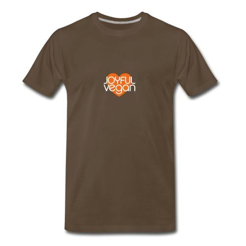Men's Joyful Vegan - Make Time to Be Healthy Quote on Back - Men's Premium T-Shirt