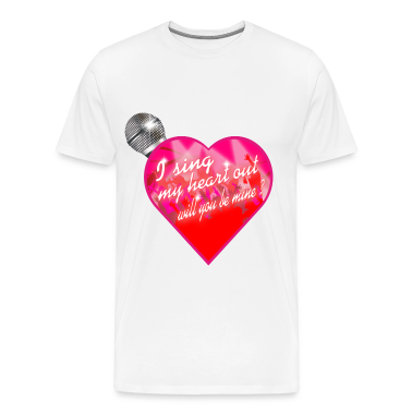I sing my heart out will you be mine valentine Mic T-Shirts