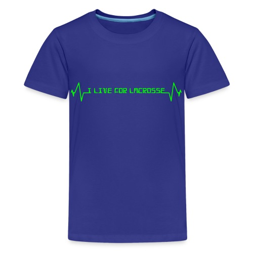 I Live For Lacrosse Children's T-Shirt - Kids' Premium T-Shirt