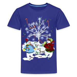 Two Snowmen - Kids' Premium T-Shirt