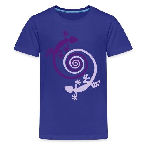 gecko spiral kid's T - Kids' Premium T-Shirt