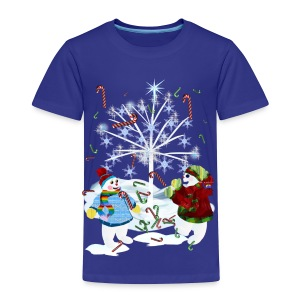 Two Snowmen - Toddler Premium T-Shirt