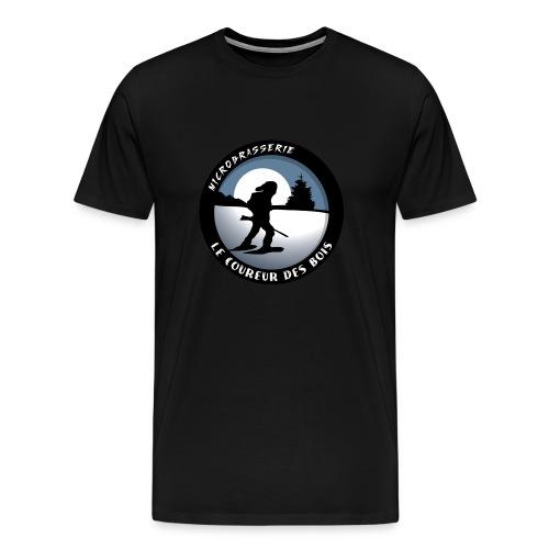 T-Shirt Coureur Des Bois Logo - Men's Premium T-Shirt