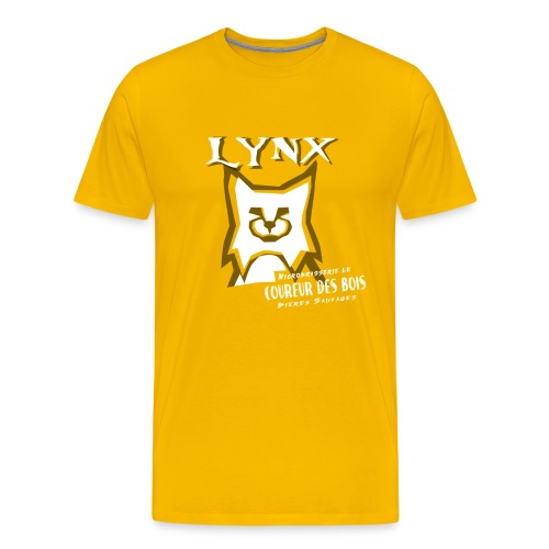 T-Shirt Lynx - T-shirt premium pour hommes