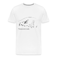 T-Shirts ~ Men's Premium T-Shirt ~ T-Rex Trying To Make A Snow Angel