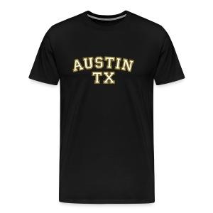 Austin TX T-Shirt White/Gold - Men's Premium T-Shirt