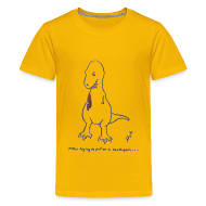 Kids' Shirts ~ Kids' Premium T-Shirt ~ T-Rex Trying Cardigan (Kids)