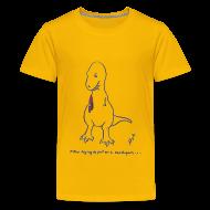 Kids' Shirts ~ Kids' Premium T-Shirt ~ T-Rex Trying Cardigan (Kids)