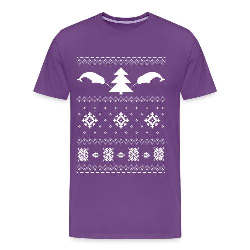 Narwhal Christmas Sweater - Men's Premium T-Shirt