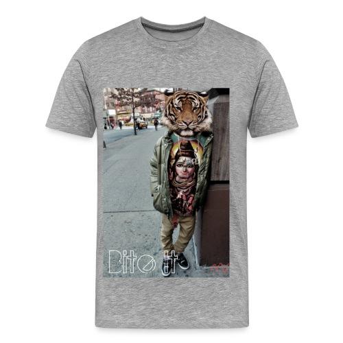Men's Tiger Head Tee - Men's Premium T-Shirt