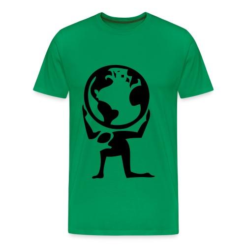 Holding the World - Men's Premium T-Shirt