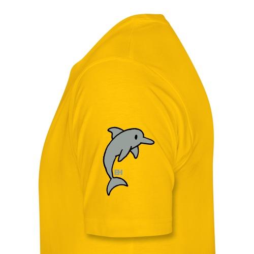 dolphin designs yellow T - Men's Premium T-Shirt
