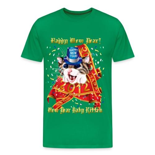 Happy New (Mew) Year 2012 - Men's Premium T-Shirt