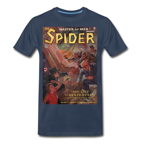 The Spider January 1935 - Men's Premium T-Shirt