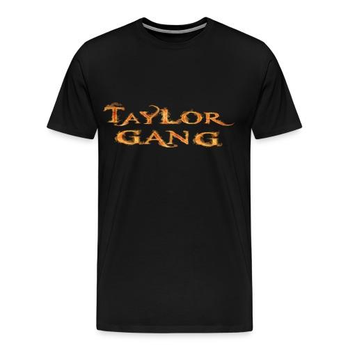 Black Taylor Gang Flame T-Shirt - Men's Premium T-Shirt