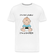 T-Shirts ~ Men's Premium T-Shirt ~ I'M NOT A BABY I'M A GAMER!