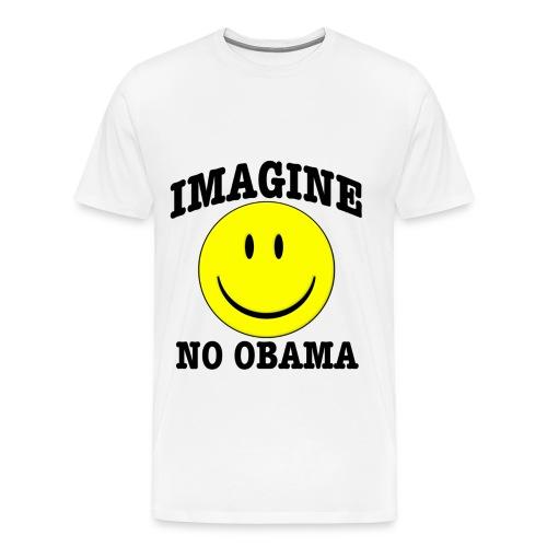 Imagine No Obama - Men's Premium T-Shirt