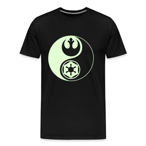 1 Logo - Star Wars - Yin Yang - Glow (3-4XL) - Men's Premium T-Shirt