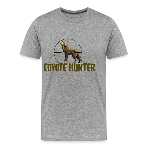 Coyote Hunter Shirt - Men's Premium T-Shirt
