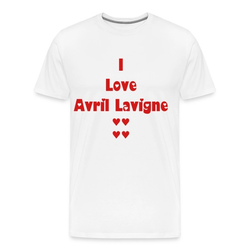 I Love Avril Lavigne Shirt - Men's Premium T-Shirt
