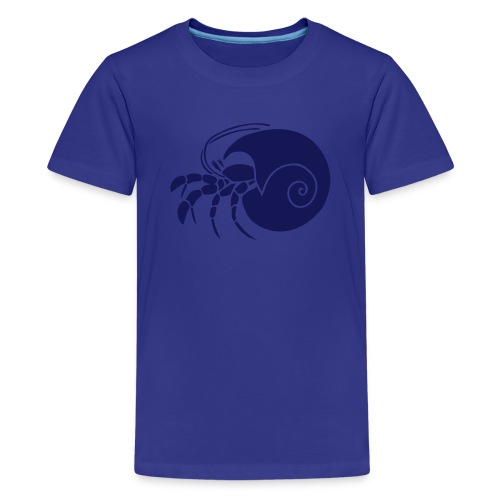 animal t-shirt hermit crab crayfish cancer shrimp prawn lobster ocean snail conch seafood sea food shellfish - Kids' Premium T-Shirt