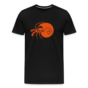 animal t-shirt hermit crab crayfish cancer shrimp prawn lobster ocean snail conch seafood sea food shellfish - Men's Premium T-Shirt
