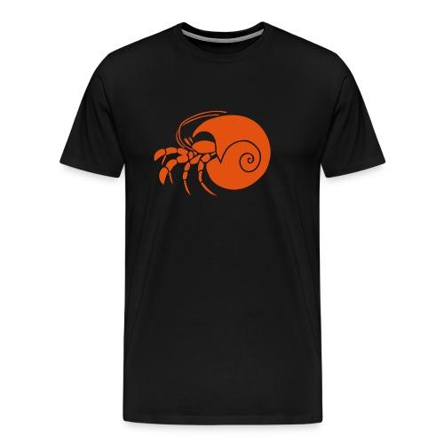 animal t-shirt hermit crab crayfish cancer shrimp prawn lobster ocean snail conch seafood sea food shellfish - Men's Premium T-Shirt