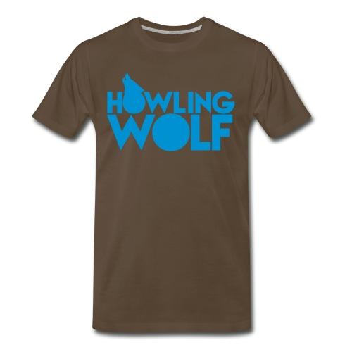 Men's Howling Wolf T-Shirt - Men's Premium T-Shirt