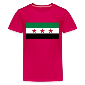Syria Flag (pre-1963) - Kids' Premium T-Shirt