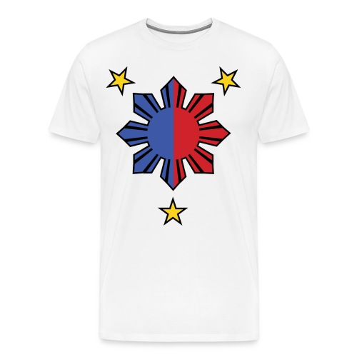 DJ Teddy Eddy's 3 Stars and a Sun Version T-shirt - Men's Premium T-Shirt