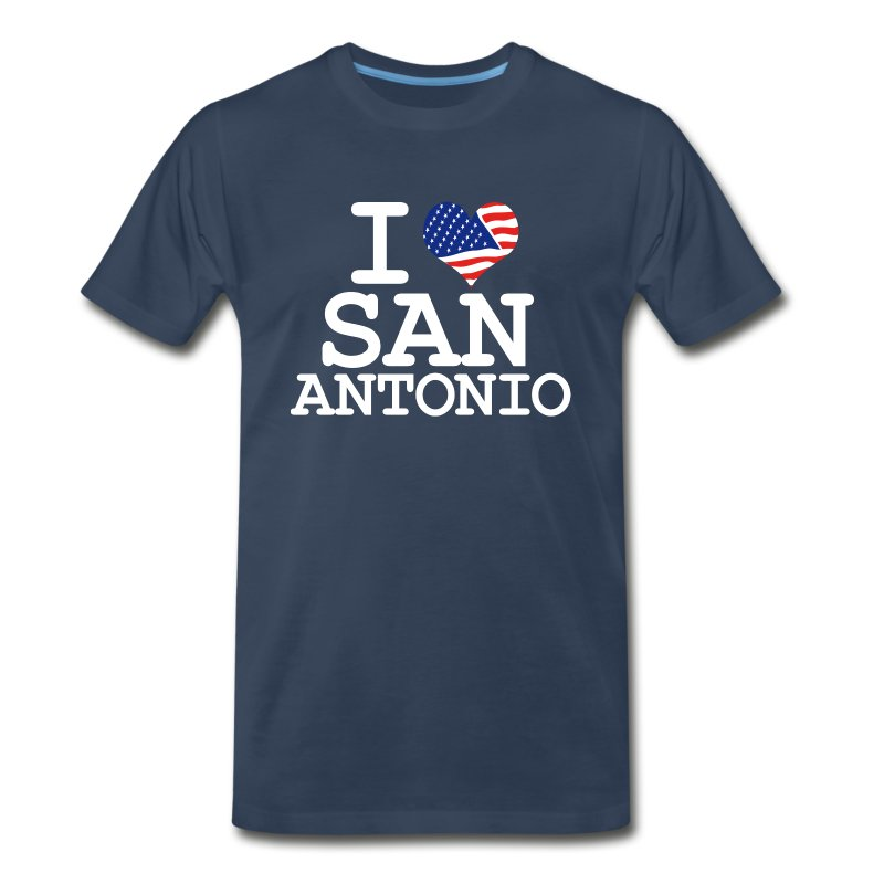 I love san antonio white t shirt spreadshirt for Screen print shirts san antonio