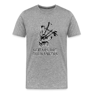 T-Shirts ~ Men's Premium T-Shirt ~ Guitars are for Wankers.