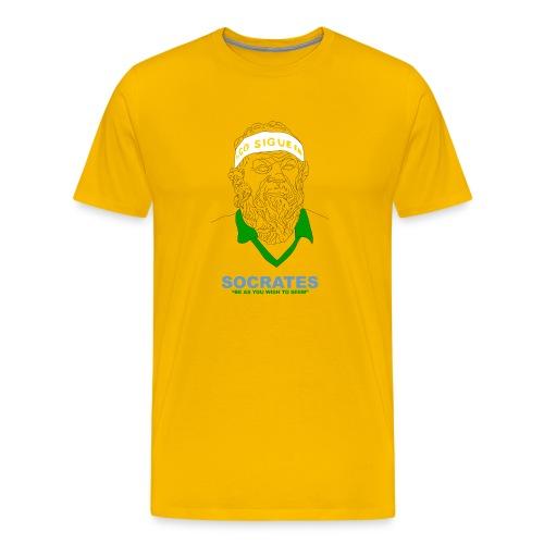 Be As You Wish To Seem - Socrates - Men's Premium T-Shirt