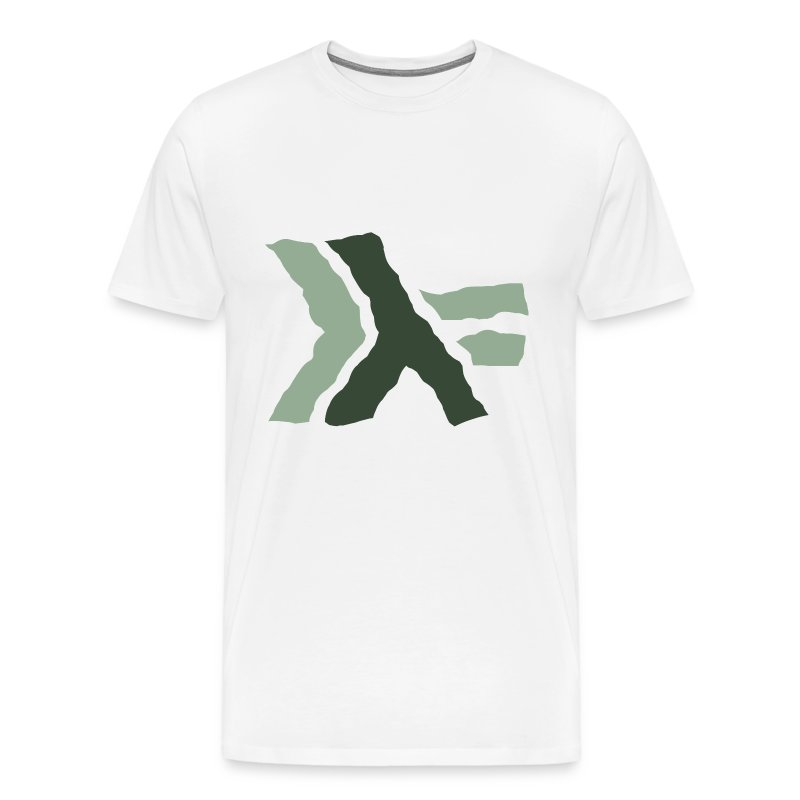 Haskell logo painted: nautral green - Men's Premium T-Shirt