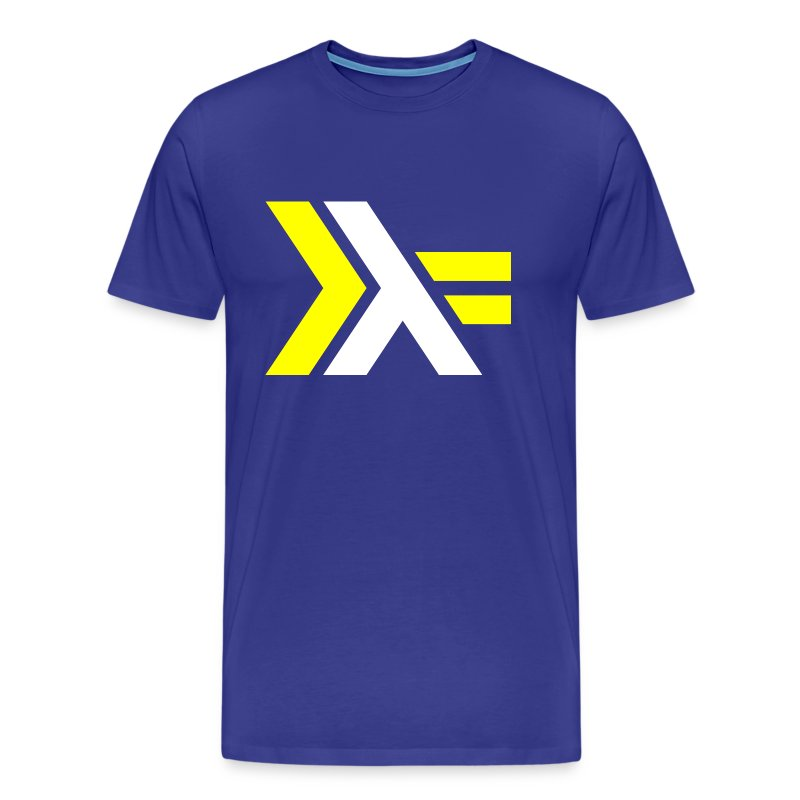White Yellow Haskell logo - Men's Premium T-Shirt