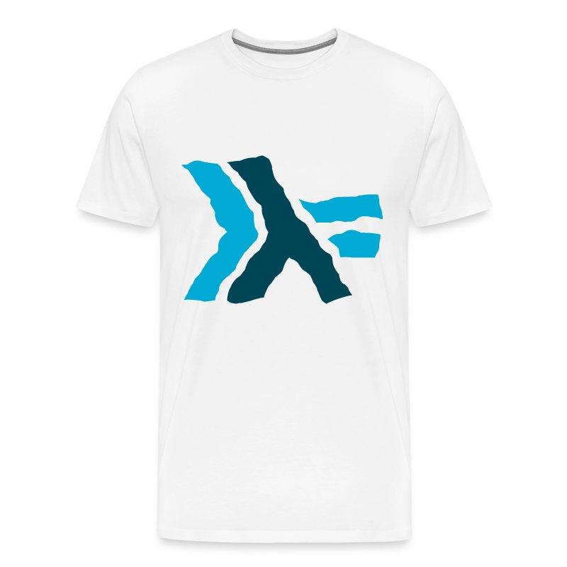Large Wavy Haskell Logo  - Men's Premium T-Shirt