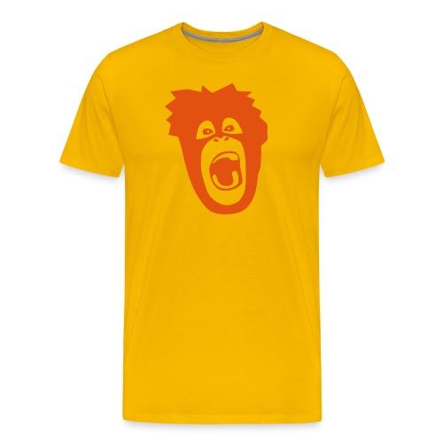 animal t-shirt gorilla ape monkey king kong godzilla silver back orang utan T-Shirts - Men's Premium T-Shirt