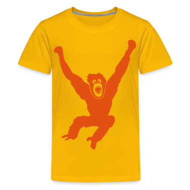 Monkey ape chimp gorilla orang utan swing king kong godzilla Kids' Shirts