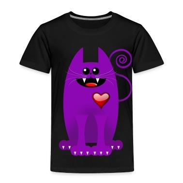 PURPLE CAT Toddler Shirts