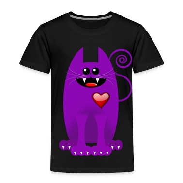PURPLE CAT Toddler Shirts
