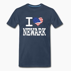 i love newark - white T-Shirts