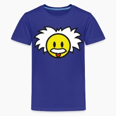 Smiley Einstein Icon (dd print) Kids' Shirts
