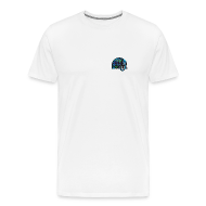 T-Shirts ~ Men's Premium T-Shirt ~ Name Tag Tee (Logo on Front and Back)