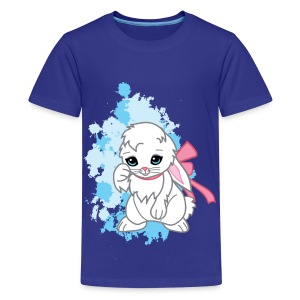 Cute Kawaii Snowball the Bunny Childrens T-shirt - Kids' Premium T-Shirt