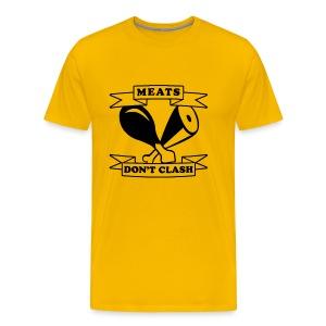 NEW Meats Don't Clash T-Shirt (Men's) - Men's Premium T-Shirt
