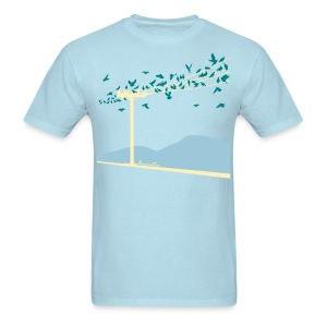 Bird on a wire - Men's T-Shirt
