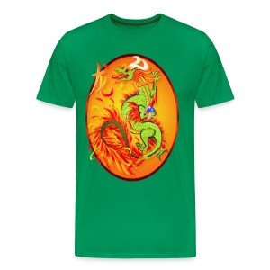 Year Of The Dragon and Symbol - Men's Premium T-Shirt
