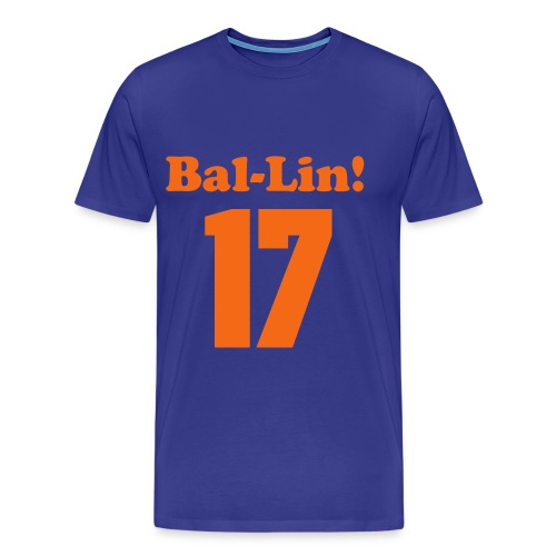 Lin-Sanity Bal-Lin Numbered Blue - Men's Premium T-Shirt
