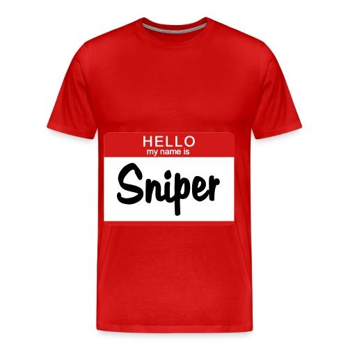 Hello My Name Is Sniper - Men's Premium T-Shirt